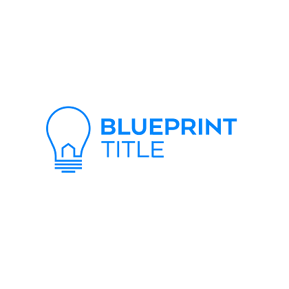 Blueprint Company Logo - lightbulb and company name